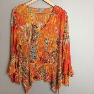 Violin pullover blouse size L EUC